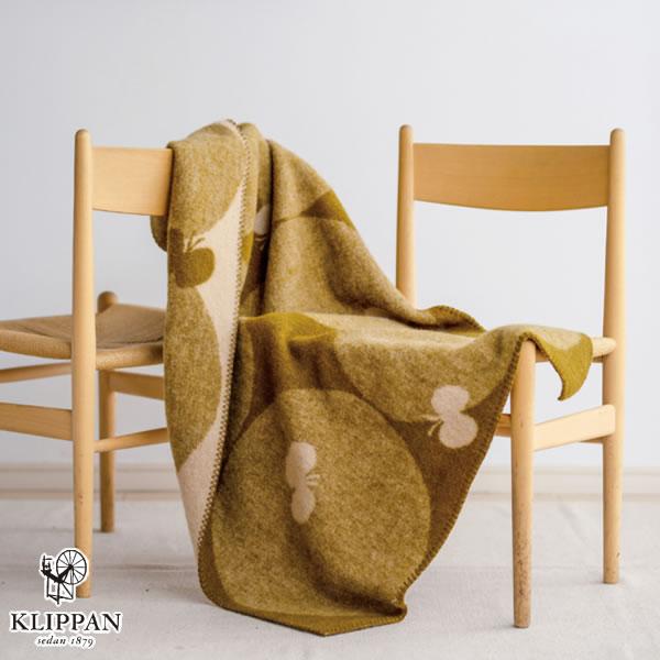 クリッパン(KLIPPAN)ウールブランケット PERHONEN ハーフ W90×L130cm【北欧雑貨】グリーンの使用画像