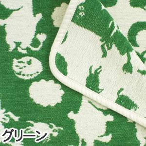 クリッパン(KLIPPAN)ミニブランケット ピルビ&ムーミン W70×L90cm【ベビー/北欧雑貨】グリーンの詳細画像