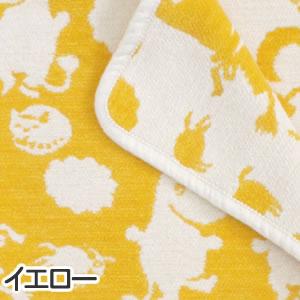 クリッパン(KLIPPAN)ミニブランケット ピルビ&ムーミン W70×L90cm【ベビー/北欧雑貨】イエローの詳細画像
