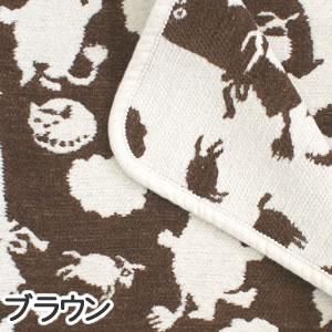 クリッパン(KLIPPAN)ミニブランケット ピルビ&ムーミン W70×L90cm【ベビー/北欧雑貨】ブラウンの詳細画像
