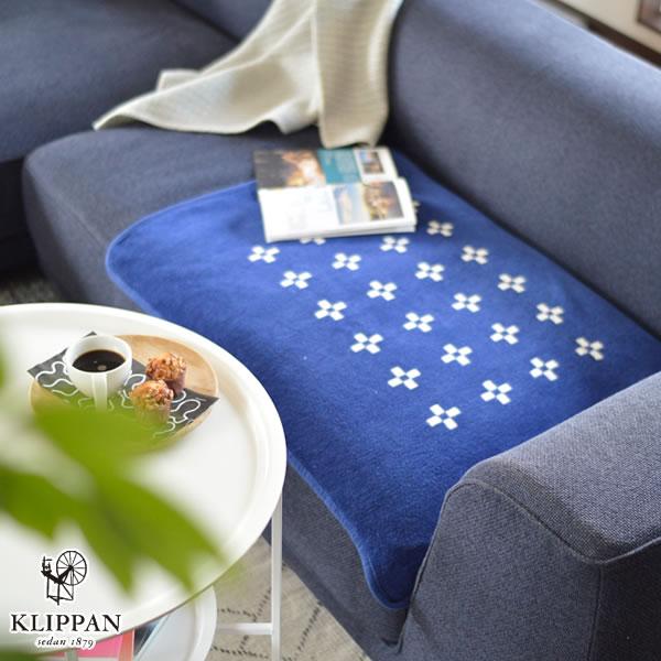 クリッパン(KLIPPAN)ブランケット レクタングルシャーンスンド W70×L90cm【ベビー/北欧雑貨】ブルーベリーの使用画像