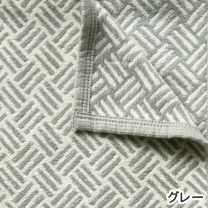 クリッパン(KLIPPAN)コットンブランケット サンバ ハーフ W90×L140cm【北欧雑貨】グレーの詳細画像