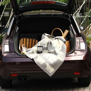 クリッパン(KLIPPAN)ウールブランケット しろくま ミニ W65×L90cm【北欧雑貨】グレーの展示画像