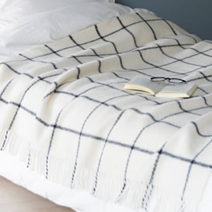クリッパン(KLIPPAN)スローケット ヴィンガ シングル W130×L200cm【北欧雑貨】ホワイトの使用詳細画像