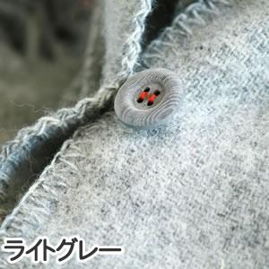 クリッパン(KLIPPAN)ストール ベーシックウール 2ポケット【おしゃれ/北欧ファッション】ライトグレーの詳細画像