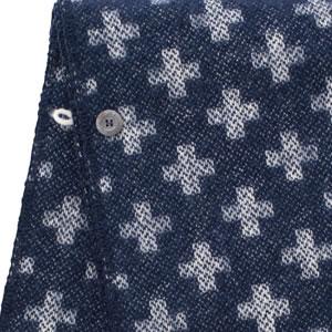 クリッパン(KLIPPAN)ストール シャーンスンドクロス ポケットなし【おしゃれ/北欧ファッション】ネイビーのボタン画像
