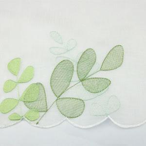 カフェカーテン ビーンの刺繍詳細画像