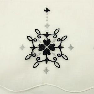 カフェカーテン ジュエリーの刺繍詳細画像