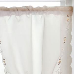 カフェカーテン ロマンス W85×H90cm【北欧風/小窓用】の詳細画像