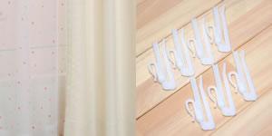 既製カーテン CHアクア/エナジー 4枚セット【おしゃれ/インテリア】のアジャスターフック画像