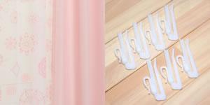 既製カーテン CHフォレスト/パッション 4枚セット【おしゃれ/インテリア】のアジャスターフック画像