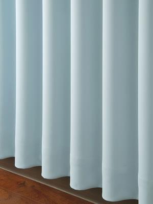 遮光カーテン フルダルムジ(Furudarumuji)2枚セット【おしゃれ/インテリア】ブルーの使用画像