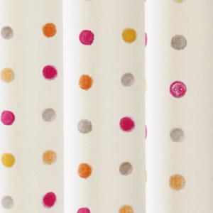遮光カーテン ハッピードット(HAPPYDOT)2枚セット【北欧風カーテン】ピンクの詳細画像