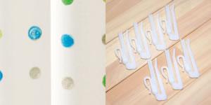 遮光カーテン ハッピードット(HAPPYDOT)2枚セット【北欧風カーテン】のタッセル画像