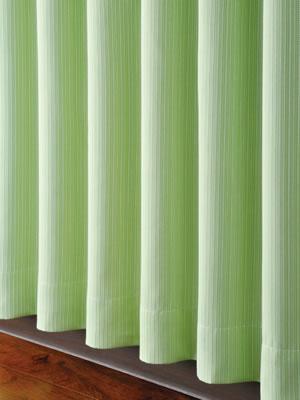 遮光カーテン ハッピーストライプ(HAPPYSTRIPE)2枚セット【北欧インテリア】グリーンの使用画像