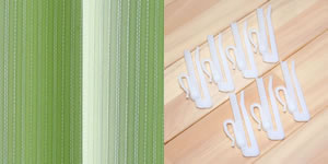 遮光カーテン ハッピーストライプ(HAPPYSTRIPE)2枚セット【北欧インテリア】のタッセル画像