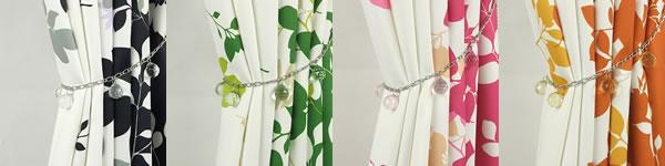 既製カーテン ルクス(LUX)2枚セット【北欧インテリア】のビーズタッセル画像