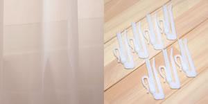 ミラーレースカーテン パステル(Pastel)2枚セット【おしゃれ/インテリア】のアジャスターフック画像