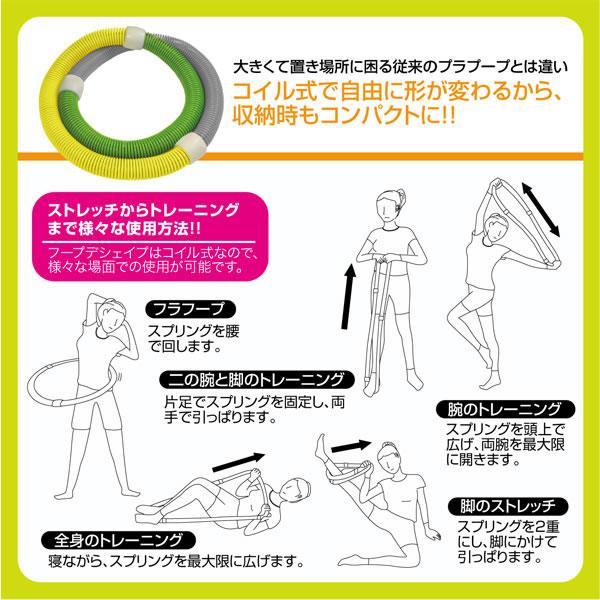 フープ de シェイプ【健康/ダイエット】の使い方画像。