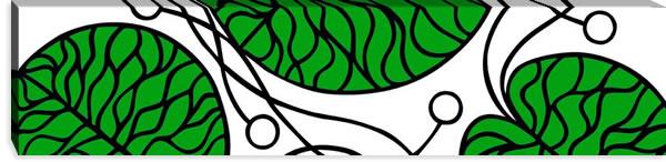 マリメッコ ファブリックパネル ボットナ(Bottna)300×1200×30mm【北欧雑貨/北欧生地】グリーンの画像