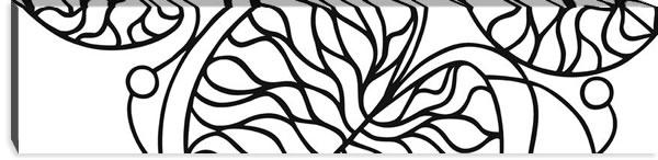マリメッコ ファブリックパネル ボットナ(Bottna)300×1200×30mm【北欧雑貨/北欧生地】ホワイトの画像