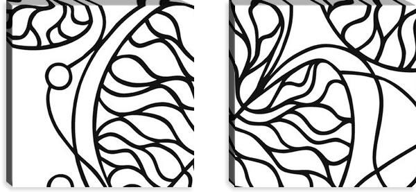 マリメッコ ファブリックパネル ボットナ(Bottna)450×450×30mm×2枚【北欧雑貨/北欧生地】ホワイトの画像