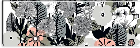 マリメッコ ファブリックパネル カスヴ(Kasvu)450×1350×30mm【北欧雑貨/北欧生地】ホワイトの画像