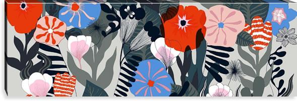 マリメッコ ファブリックパネル カスヴ(Kasvu)450×1350×30mm【北欧雑貨/北欧生地】マルチの画像
