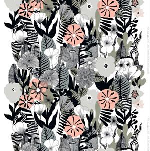 マリメッコ ファブリック カスヴ(Kasvu)【北欧雑貨/北欧生地】ホワイトの画像