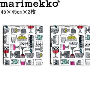 マリメッコ ファブリックパネル キッピス(Kippis)450×450×30mm×2枚【北欧雑貨/北欧生地】の全体画像