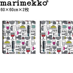 マリメッコ ファブリックパネル キッピス(Kippis)600×600×30mm×2枚【北欧雑貨/北欧生地】の全体画像