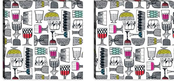 マリメッコ ファブリックパネル キッピス(Kippis)600×600×30mm×2枚【北欧雑貨/北欧生地】の詳細画像