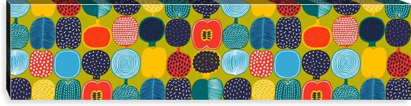 マリメッコ ファブリックパネル コンポッティ(Kompotti)300×1200×30mm【北欧雑貨/北欧生地】グリーンの画像