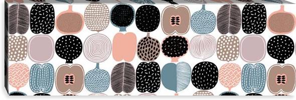 マリメッコ ファブリックパネル コンポッティ(Kompotti)300×900×30mm【北欧雑貨/北欧生地】ホワイトの画像