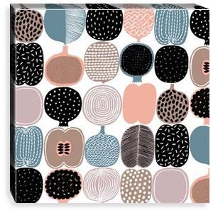 マリメッコ ファブリックパネル コンポッティ(Kompotti)450×450×30mm【北欧雑貨/北欧生地】ホワイトの画像