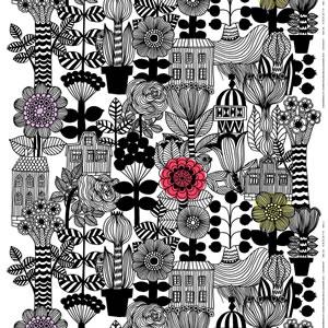 マリメッコ ファブリック リントゥコト(Lintukoto)【北欧雑貨/北欧生地】の生地画像