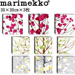 マリメッコ ファブリックパネル ルミマルヤ(Lumimarja)300×300×30mm×3枚【北欧雑貨/北欧生地】各カラーの画像