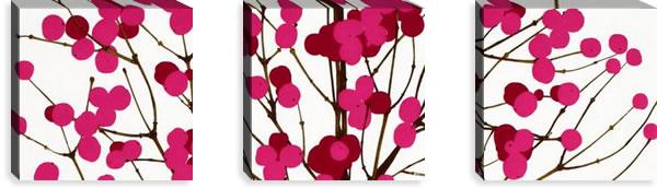 マリメッコ ファブリックパネル ルミマルヤ(Lumimarja)300×300×30mm×3枚【北欧雑貨/北欧生地】ピンクの画像
