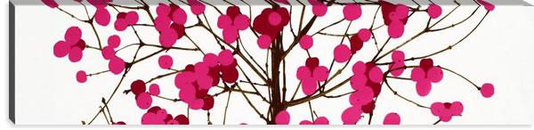 マリメッコ ファブリックパネル ルミマルヤ(Lumimarja)300×1200×30mm【北欧雑貨/北欧生地】ピンクの画像