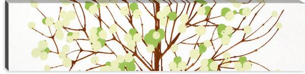 マリメッコ ファブリックパネル ルミマルヤ(Lumimarja)300×1200×30mm【北欧雑貨/北欧生地】グリーンの画像