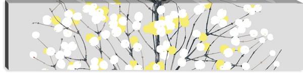 マリメッコ ファブリックパネル ルミマルヤ(Lumimarja)300×1200×30mm【北欧雑貨/北欧生地】グレー/イエローの画像