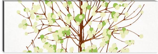 マリメッコ ファブリックパネル ルミマルヤ(Lumimarja)450×1350×30mm【北欧雑貨/北欧生地】グリーンの画像