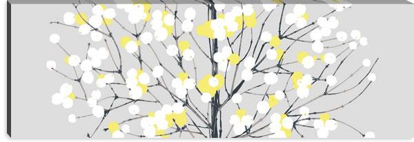 マリメッコ ファブリックパネル ルミマルヤ(Lumimarja)450×1350×30mm【北欧雑貨/北欧生地】グレー/イエローの画像