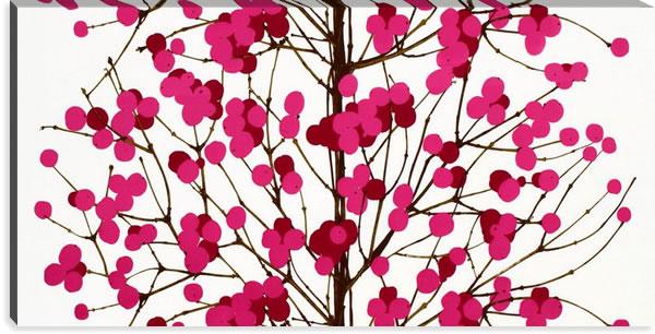 マリメッコ ファブリックパネル ルミマルヤ(Lumimarja)600×1200×30mm【北欧雑貨/北欧生地】ピンクの画像