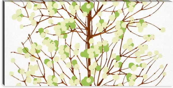 マリメッコ ファブリックパネル ルミマルヤ(Lumimarja)600×1200×30mm【北欧雑貨/北欧生地】グリーンの画像