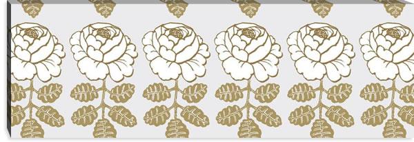 マリメッコ ファブリックパネル マーライスルース(Maalaisruusu)ゴールド 450×1350×30mm【北欧雑貨/北欧生地】の詳細画像