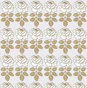 マリメッコ ファブリック マーライスルース(Maalaisruusu)ゴールド【北欧雑貨/北欧生地】の生地画像