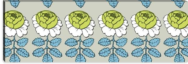 マリメッコ ファブリックパネル マーライスルース(Maalaisruusu)サンドベージュ 450×1350×30mm【北欧雑貨/北欧生地】の詳細画像