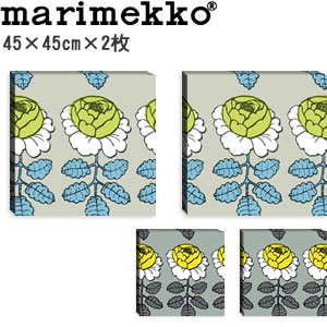 マリメッコ ファブリックパネル マーライスルース(Maalaisruusu)450×450×30mm×2枚【北欧雑貨/北欧生地】の全体画像