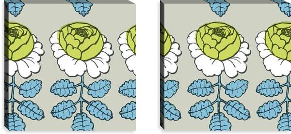 マリメッコ ファブリックパネル マーライスルース(Maalaisruusu)サンドベージュ 450×450×30mm×2枚【北欧雑貨/北欧生地】の詳細画像